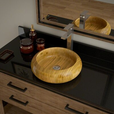 Circular Vessel Bathroom Sink with Faucet Faucet Finish: Chrome