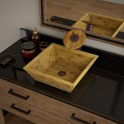 Square Vessel Bathroom Sink with Faucet Faucet Finish: Oil Rubbed Bronze