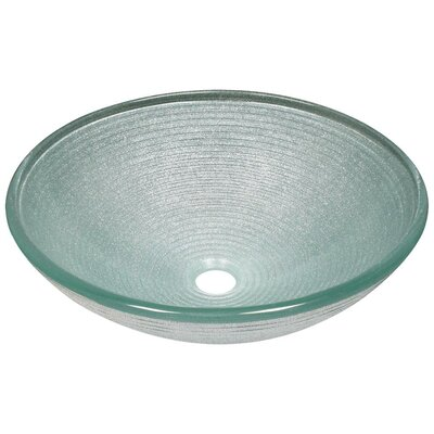 Iridescent Foil Undertone Glass Circular Vessel Bathroom Sink