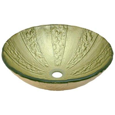 Gold Foil Glass Circular Vessel Bathroom Sink