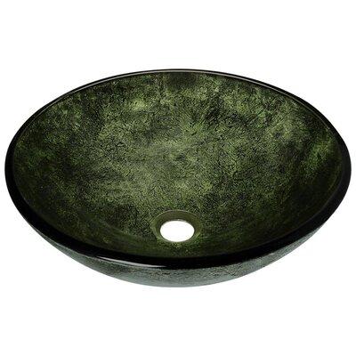Forest Glass Circular Vessel Bathroom Sink