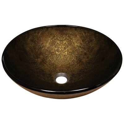 Foil Undertone Glass Circular Vessel Bathroom Sink