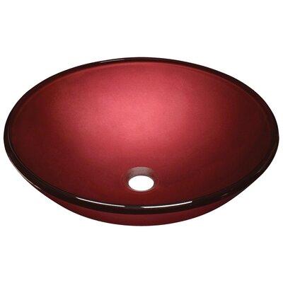 Hand Painted Glass Circular Vessel Bathroom Sink