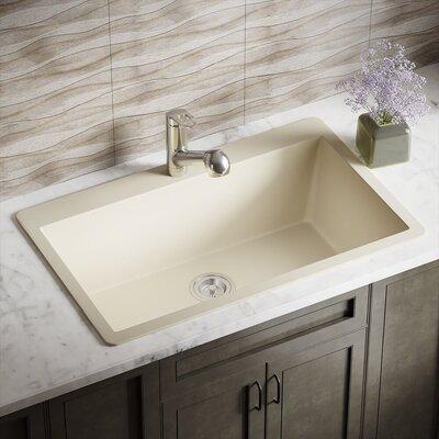 Granite Composite 33 x 21 Drop-in Kitchen Sink Finish: Beige