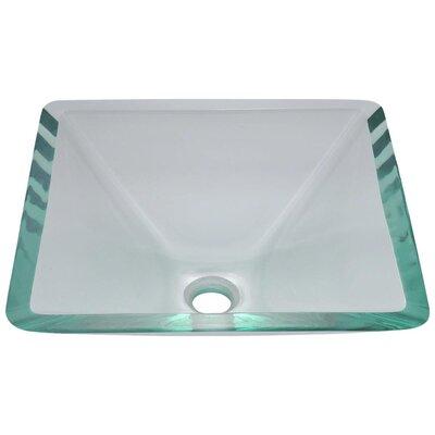 Glass Square Vessel Bathroom Sink Sink Finish: Crystal