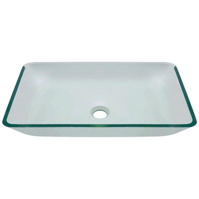 Glass Rectangular Vessel Bathroom Sink Sink Finish: Crystal