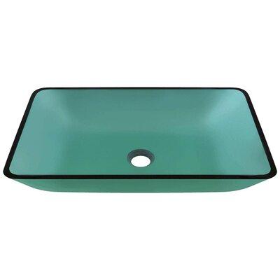 Glass Rectangular Vessel Bathroom Sink Sink Finish: Emerald