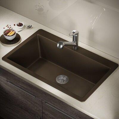 Granite Composite 33 x 21 Drop-in Kitchen Sink Finish: Mocha