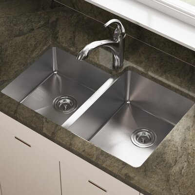 Stainless Steel 31 x 21 Double Basin Undermount Kitchen Sink