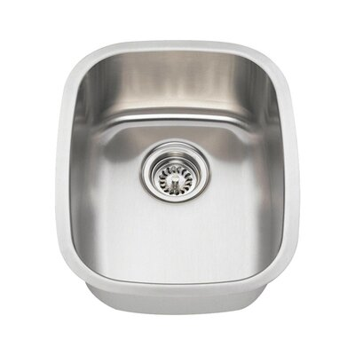 Stainless Steel 18 x 15 Undermount Bar Sink