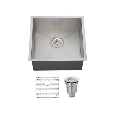 Stainless Steel 20 x 19 Undermount Kitchen Sink With Additional Accessories