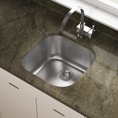 Stainless Steel 20 x 20 Undermount Bar Sink
