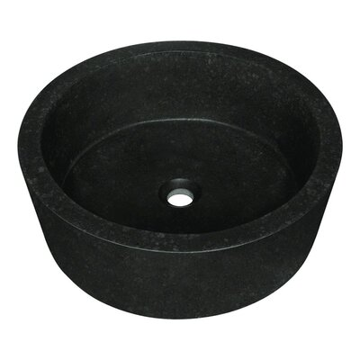 Honed Basalt Stone Circular Vessel Bathroom Sink