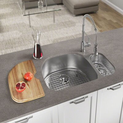 Stainless Steel 32 x 21 Double Basin Undermount Kitchen Sink With Additional Accessories