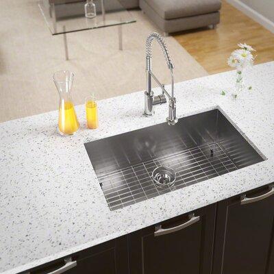 Stainless Steel 32 x 19 Undermount Kitchen Sink With Additional Accessories