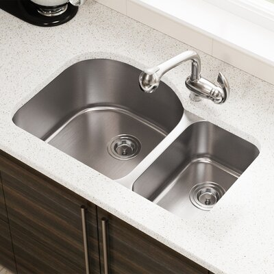 Stainless Steel 32 x 21 Double Basin Undermount Kitchen Sink