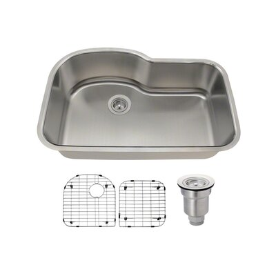 Stainless Steel 31 x 21 Undermount Kitchen Sink With Additional Accessories