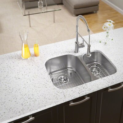 Stainless Steel 29 x 21 Double Basin Undermount Kitchen Sink