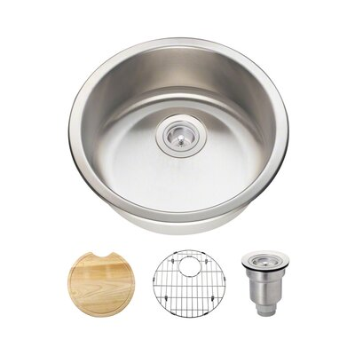Stainless Steel 18 x 18 Dualmount Bar Sink With Additional Accessories
