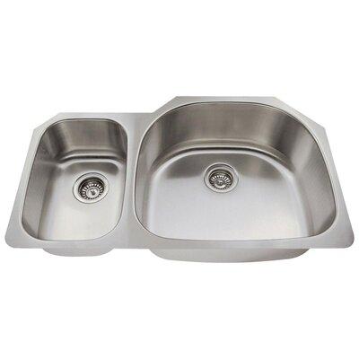 Stainless Steel 35 x 21 Double Basin Undermount Kitchen Sink