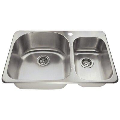 31 x 21 Double Basin Drop-In Kitchen Sink