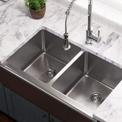 Stainless Steel 33 x 20 Farmhouse/Apron Undermount Kitchen Sink
