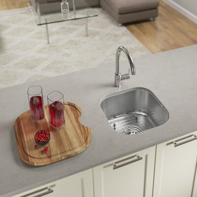 Stainless Steel 17 x 16 Undermount Bar Sink With Additional Accessories