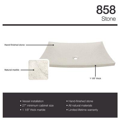 Cream Pinta Compound Stone Rectangular Vessel Bathroom Sink
