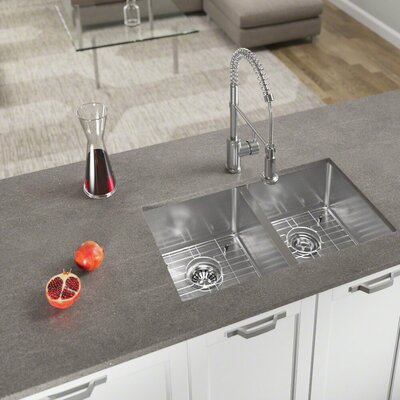 Stainless Steel 31 x 18 Double Basin Undermount Kitchen Sink With Additional Accessories