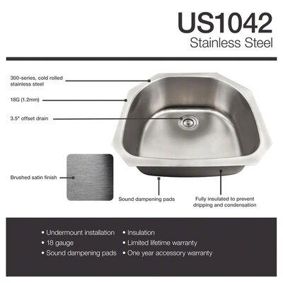 24 x 24 Undermount Kitchen Sink