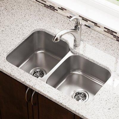32 x 21 Double Basin Undermount Kitchen Sink