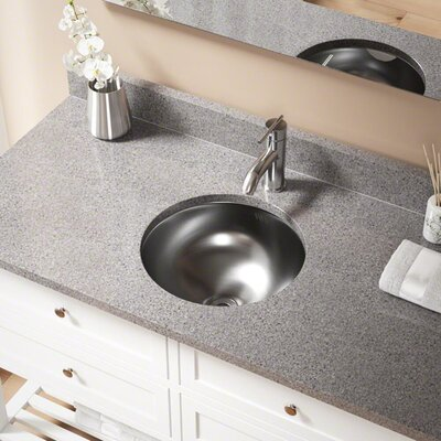 Metal Circular Undermount Bathroom Sink