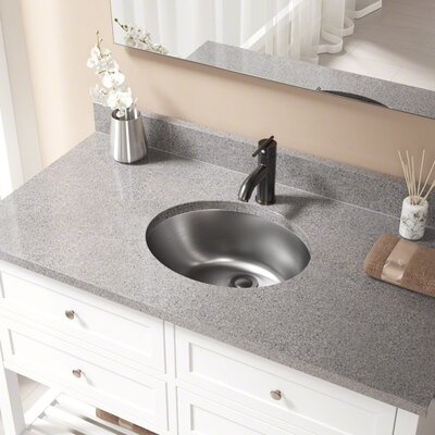 Metal Oval Undermount Bathroom Sink with Overflow Drain Finish: Antique Bronze