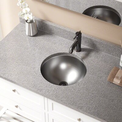 Metal Circular Undermount Bathroom Sink with Overflow Drain Finish: Antique Bronze