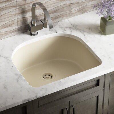 Granite Composite 25 x 22 Undermount Kitchen Sink with Flange Finish: Beige