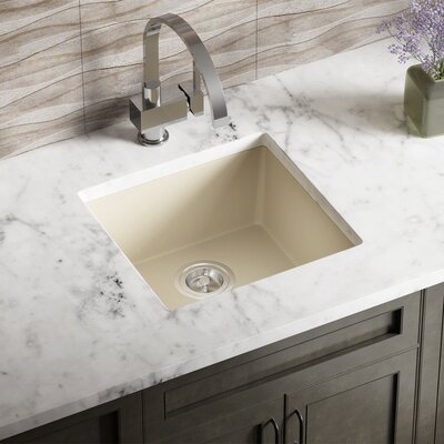 Granite Composite 18 x 17 Undermount Kitchen Sink Finish: Beige