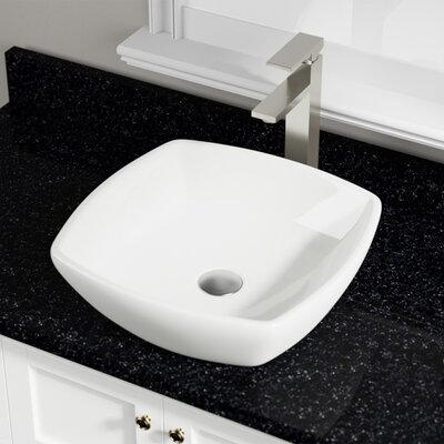 Vitreous China Specialty Vessel Bathroom Sink Sink Finish: Bisque