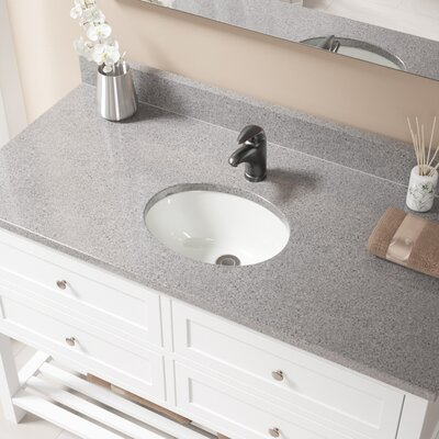Glass Oval Undermount Bathroom Sink with Overflow Sink Finish: Bisque, Drain Finish: Antique Rubbed Bronze