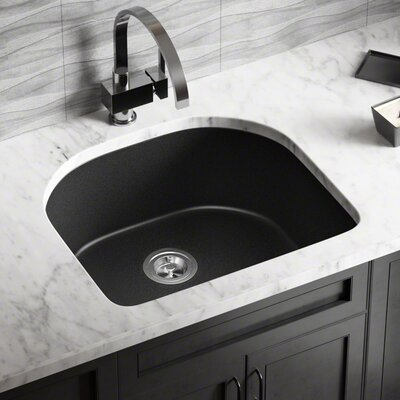 Granite Composite 25 x 22 Undermount Kitchen Sink Finish: Black