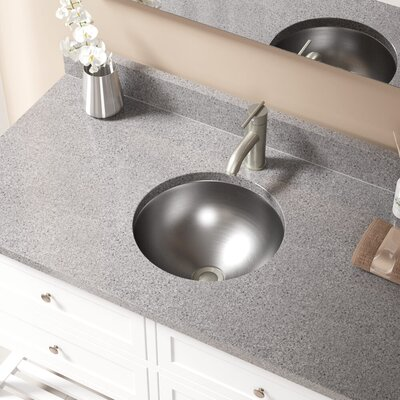 Metal Circular Undermount Bathroom Sink with Overflow Drain Finish: Brushed Nickel