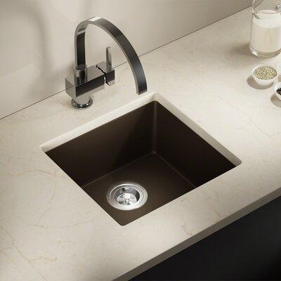 Granite Composite 18 x 17 Undermount Kitchen Sink With Basket Strainer Finish: Mocha