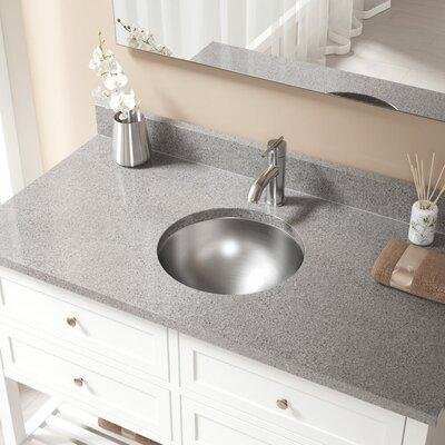 Metal Circular Undermount Bathroom Sink with Overflow Drain Finish: Chrome