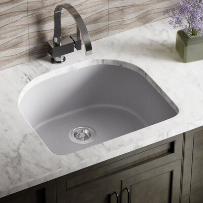 Granite Composite 25 x 22 Undermount Kitchen Sink Finish: Silver