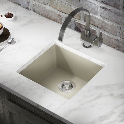 Granite Composite 18 x 17 Undermount Kitchen Sink Finish: Slate