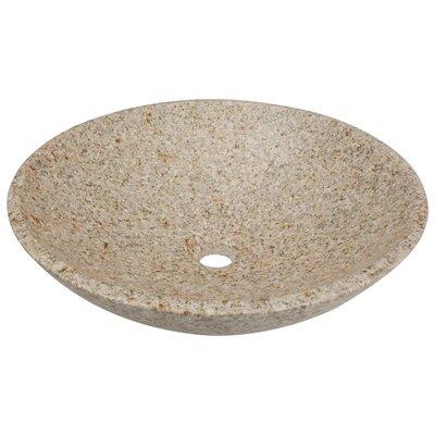 Stone Circular Vessel Bathroom Sink Sink Finish: Tan