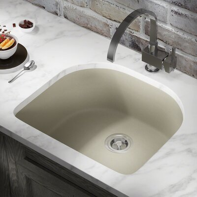 Granite Composite 25 x 22 Undermount Kitchen Sink Finish: Slate