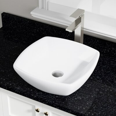Vitreous China Specialty Vessel Bathroom Sink Sink Finish: White