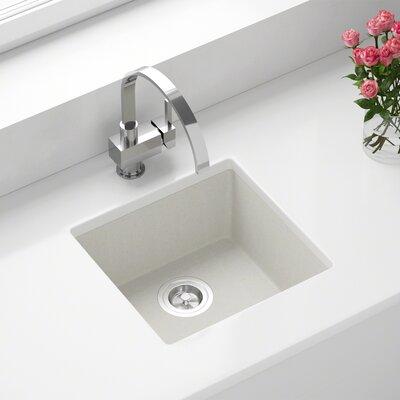 Granite Composite 18 x 17 Undermount Kitchen Sink Finish: White