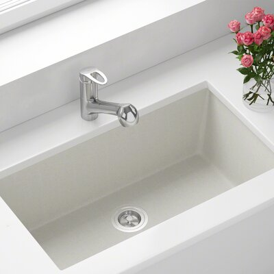 Granite Composite 33 x 18 Undermount Kitchen Sink Finish: White