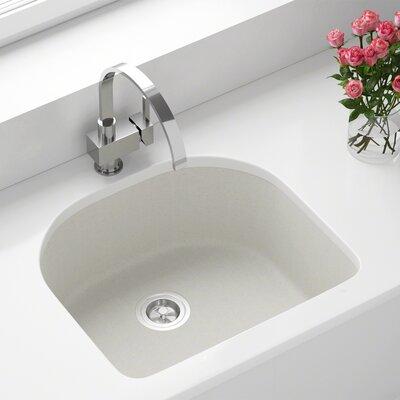 Granite Composite 25 x 22 Undermount Kitchen Sink Finish: White